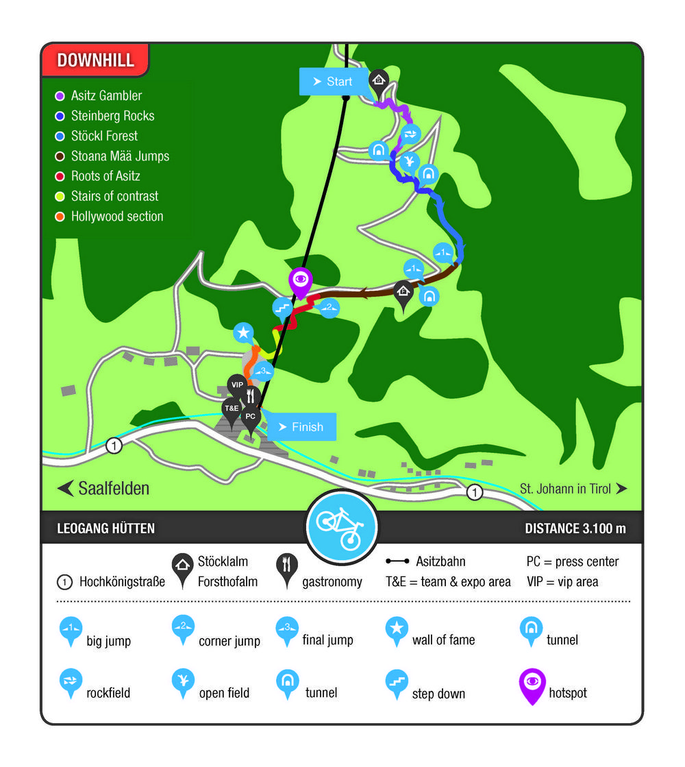Freshly shaped Bikepark Leogang is ready for the UCI Mountain Bike World Cup