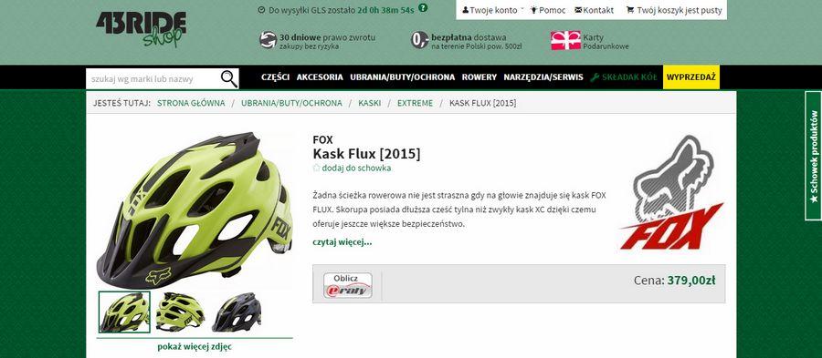 Fox Flux 2015 shop.43ride.com