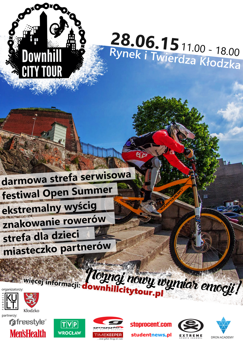 Downhill City Tour Kłodzko – zaproszenie + oświadczenie