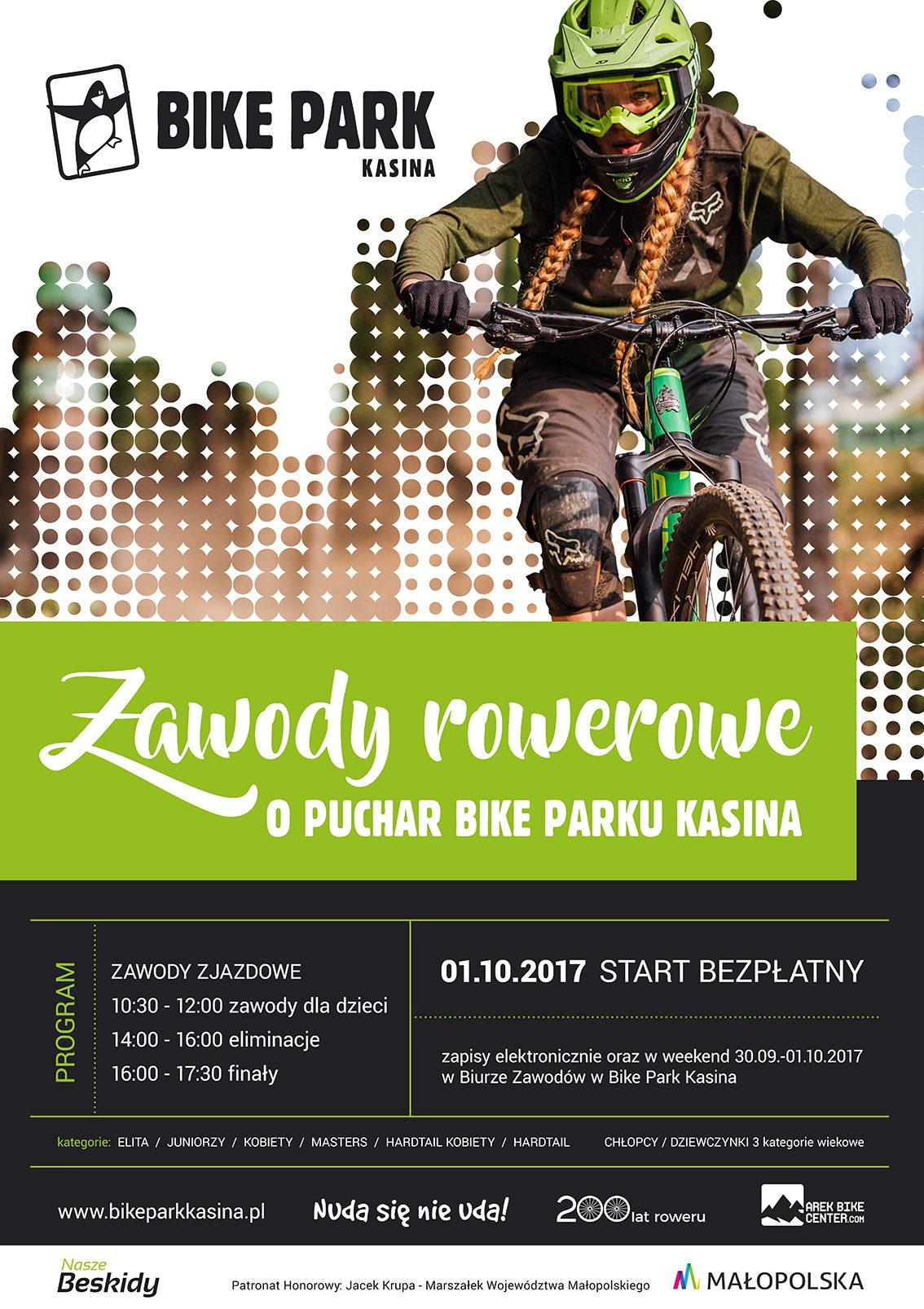 Zakończenie sezonu rowerowego - zawody o Puchar Bike Park Kasina