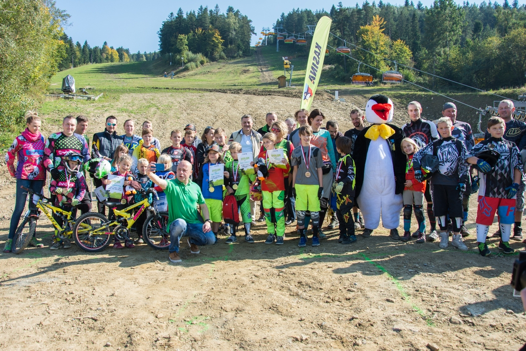 Rekordowe zawody rowerowe o puchar Bike Park Kasina